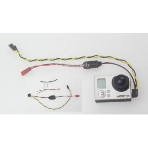 AV кабель для  GoPro Hero 3 со встроенным питанием(BEC)