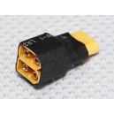 Разветвитель XT60 для параллельного соединения двух батарей (1шт.)