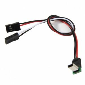 Угловой AV кабель для  GoPro Hero 3 с питанием