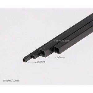 Карбоновая квадратная трубка (полая) 3x2х750мм