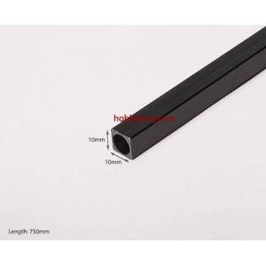 Карбоновая квадратная трубка (полая) 10x8.5х750мм