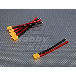 XT60 (папа), 12 AWG провод (10см)