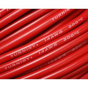 Провод Turnigy 14AWG в силиконовой изоляции (10СМ) КРАСНЫЙ