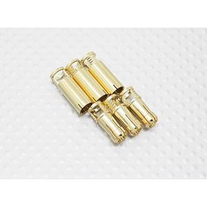 Штыревые разъемы 6мм RCPROPLUS Supra X Gold (1 пара)