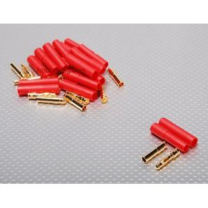 Золотой разъем HXT 4мм с защитным корпусом (1 шт)