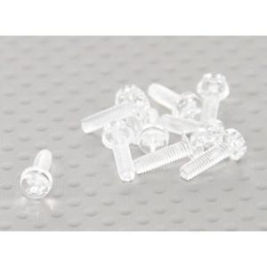 Винт М3х10мм из прозрачного поликарбоната (10шт.)