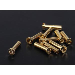 Низкопрофильные золотые разъемы 4.0мм (1 шт)
