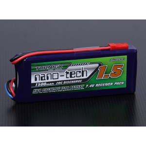 Turnigy nano-tech 1500mah 2S 20~40C Lipo Pack