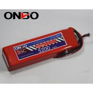 ONBO 5200mAh 3S(11.1v) 35C Lipo Pack