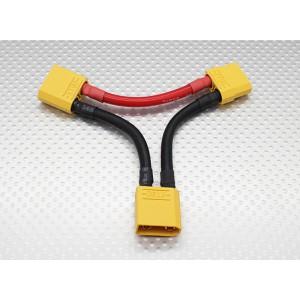 Переходник для последовательного соединения двух батарей с разьёмом XT90