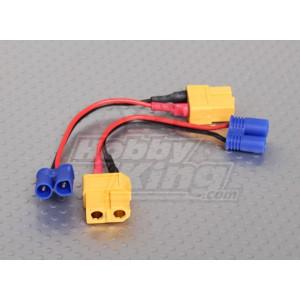 Переходник с XT60 на EC2 для зарядки