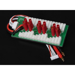 Плата параллельной зарядки для 6-ти батарей 2-6S (HXT4мм)