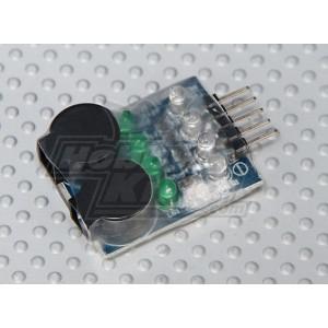 Бортовой сигнализатор разряда аккумулятора (2S-4S)