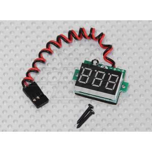 Бортовой вольтметр с сегментным LED дисплеем