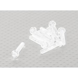 Винт М4х20мм из прозрачного поликарбоната(10шт.)