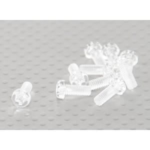 Винт М4х10мм из прозрачного поликарбоната(10шт.)