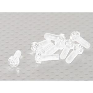 Винт M4x12мм из прозрачного поликарбоната (10шт.)