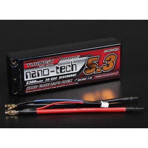 Turnigy nano-tech 5300mah 2S2P 30~60C в жестком корпусе