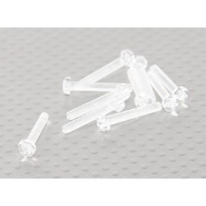 Винт М3Х20мм из прозрачного поликарбоната (10шт.)