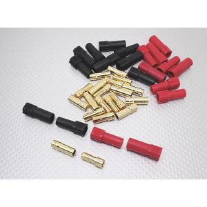 XT150 6мм золотые разъемы, красный/черный (1 пара)