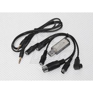 Универсальный USB-кабель для симуляторов (JR/Spektrum, Futaba - XTR, AeroFly, Phoenix, G5, FMS)